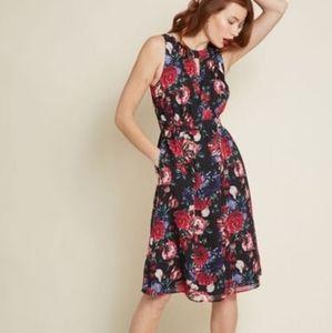 Modcloth Flaunts and Needs Chiffon Rose Dress